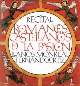 Cartel recital Romances castellanos de la Pasion